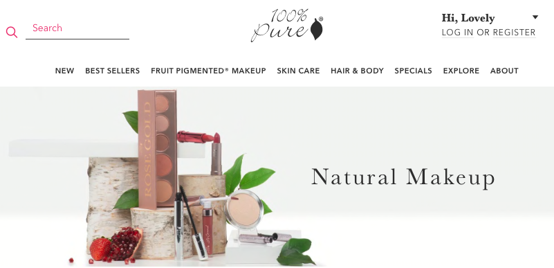100% pure non toxic beauty products