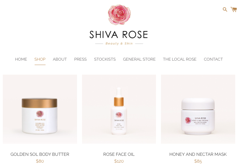shiva rose non toxic beauty products