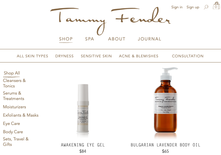 Tammy Fender non toxic beauty products