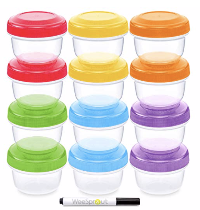 wee sprout baby food storage containers