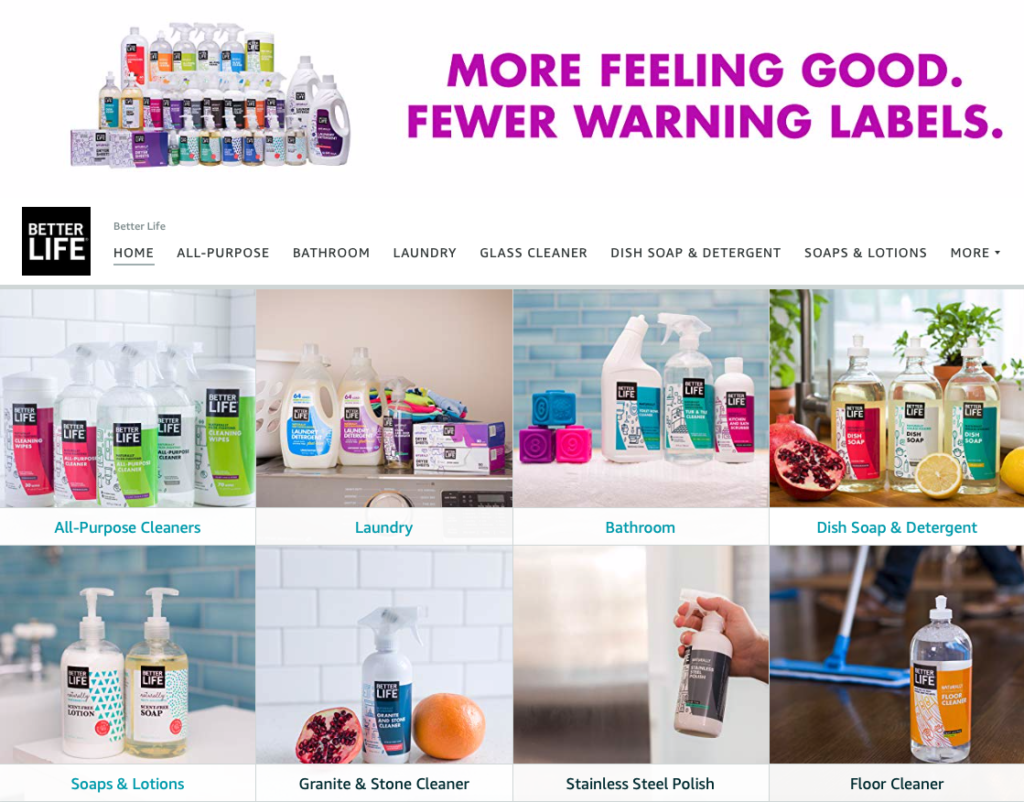 better life natural cleaning product brand