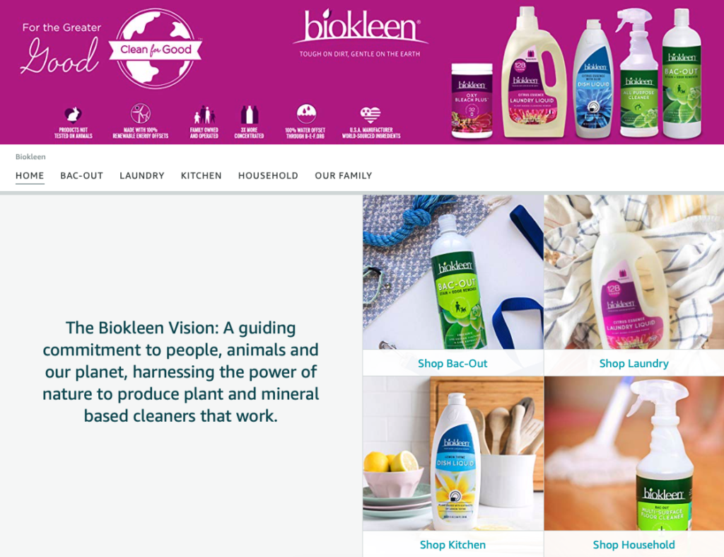 Biokleen natural cleaning product brand