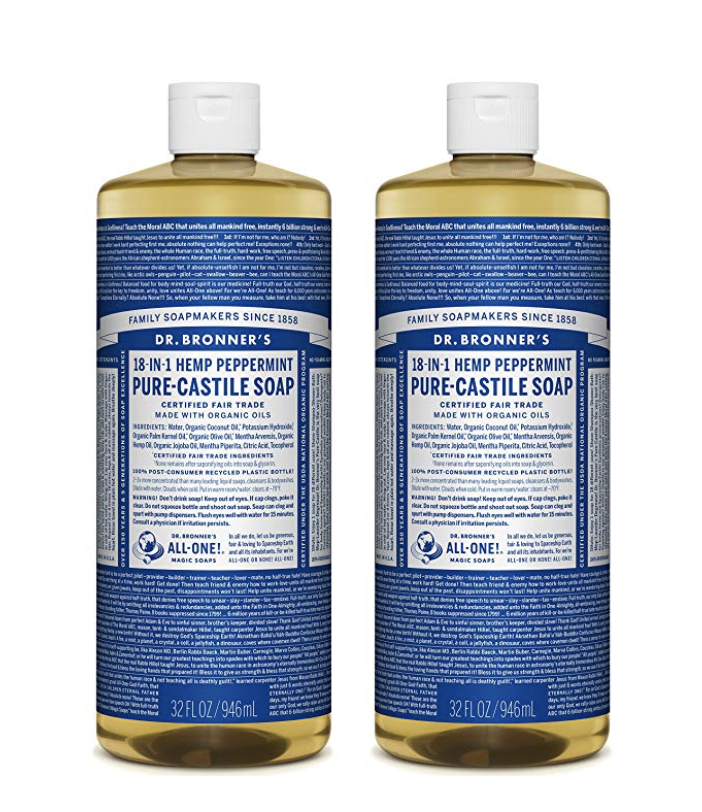 dr bronners Castile soap natural cleaning product
