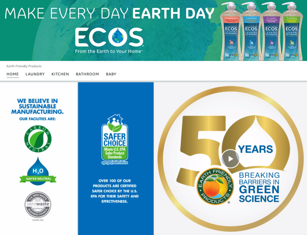 ecos natural cleaning product brand