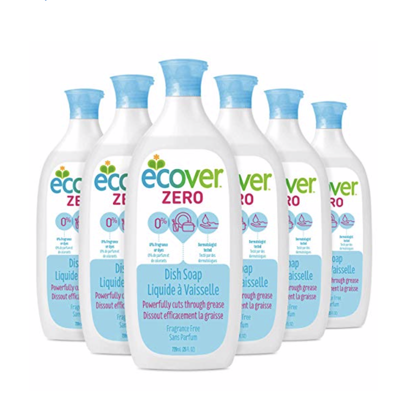 ecover zero dish soap natural cleaning product