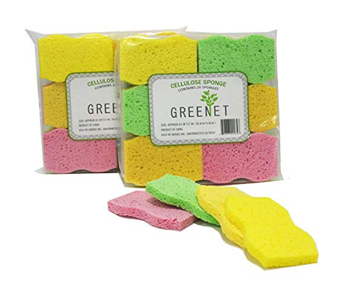 greenet cellulose sponges natural cleaning products