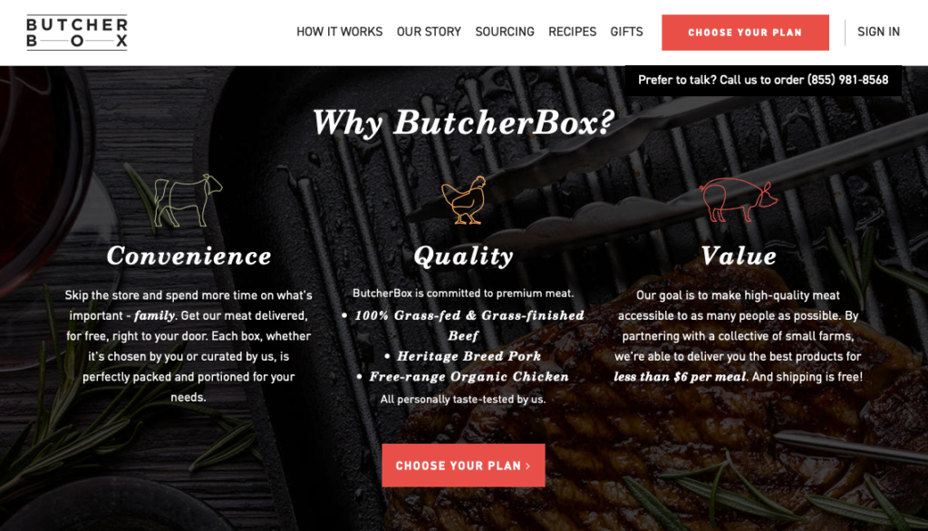 butcher box organic meat delivery services