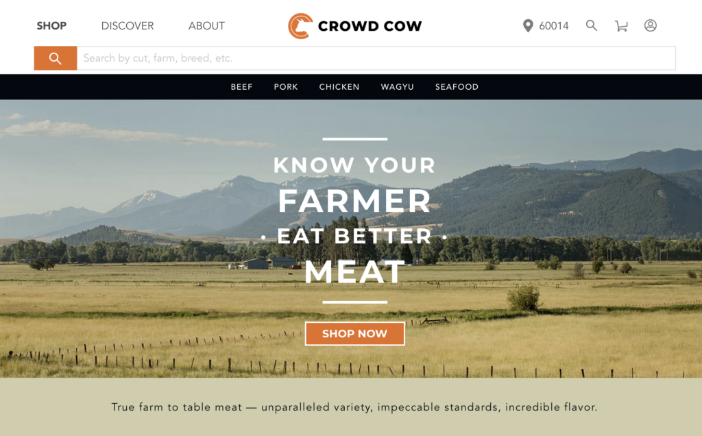 crowd cow organic meat delivery services