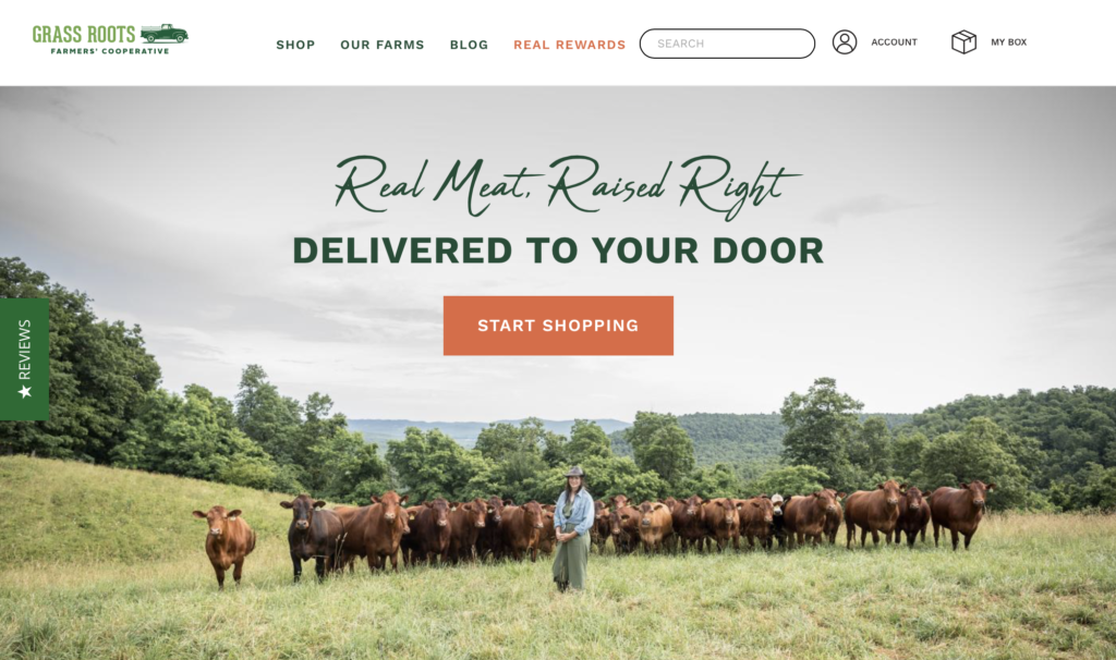 grass roots organic meat delivery services