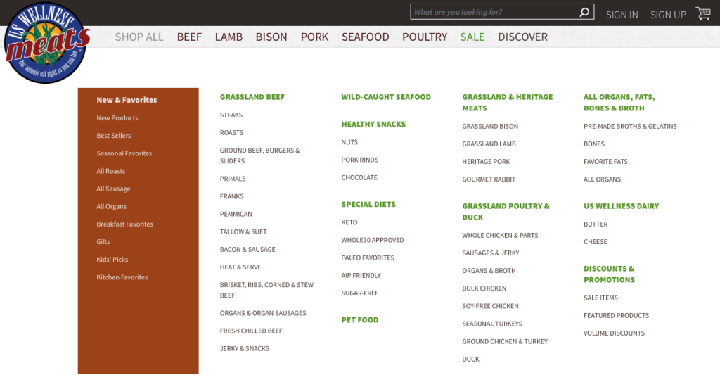 us wellness meats organic meat delivery services menu options