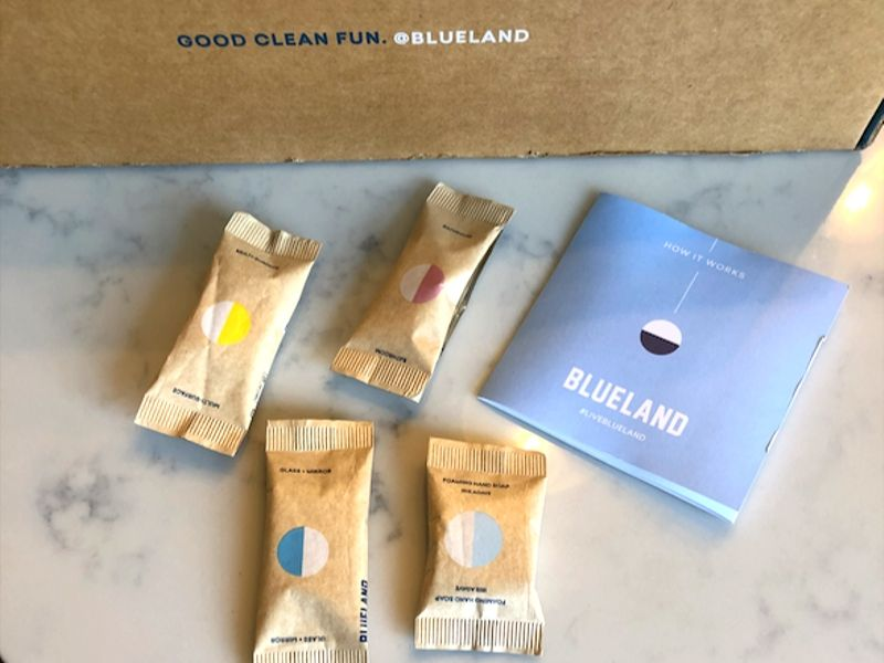 Blueland cleaning refill compostable packs