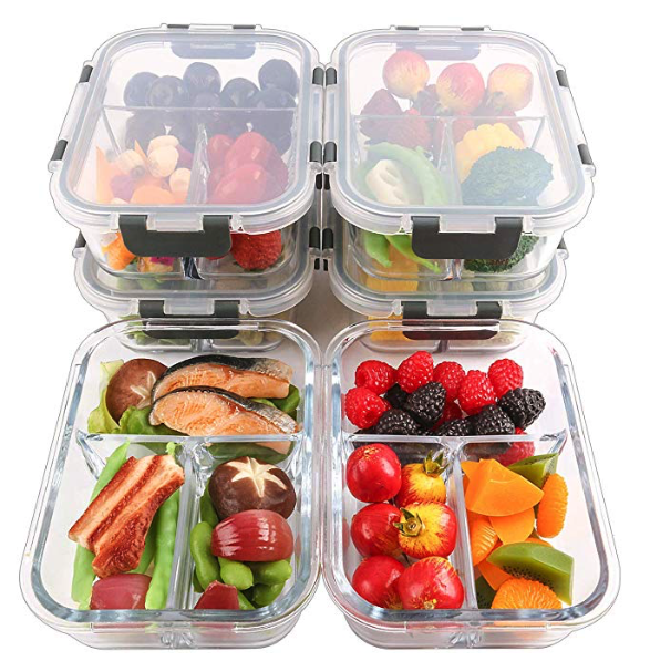 macro dieting glass meal prep containers