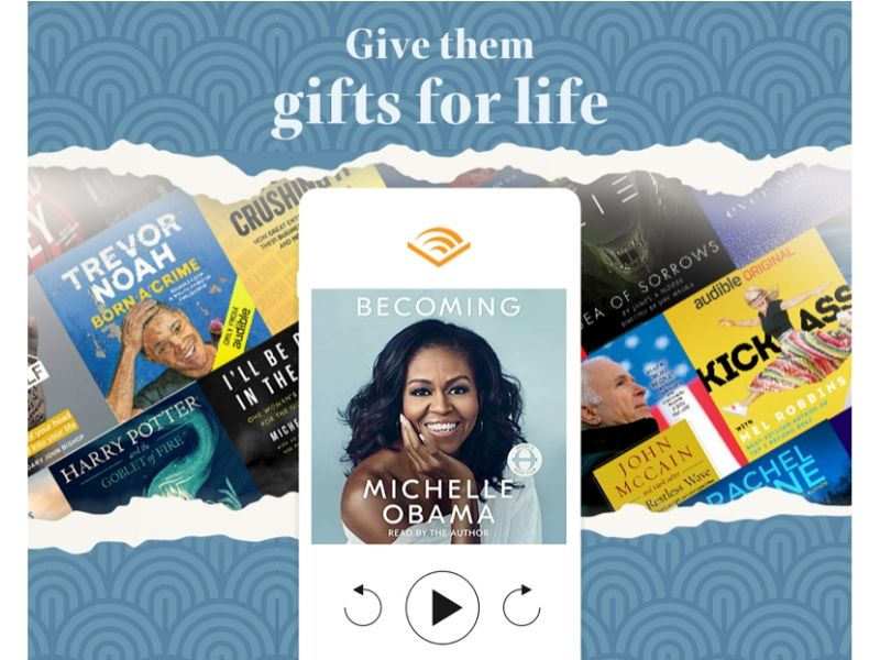 eco friendly gift ideas for anyone audible subscription