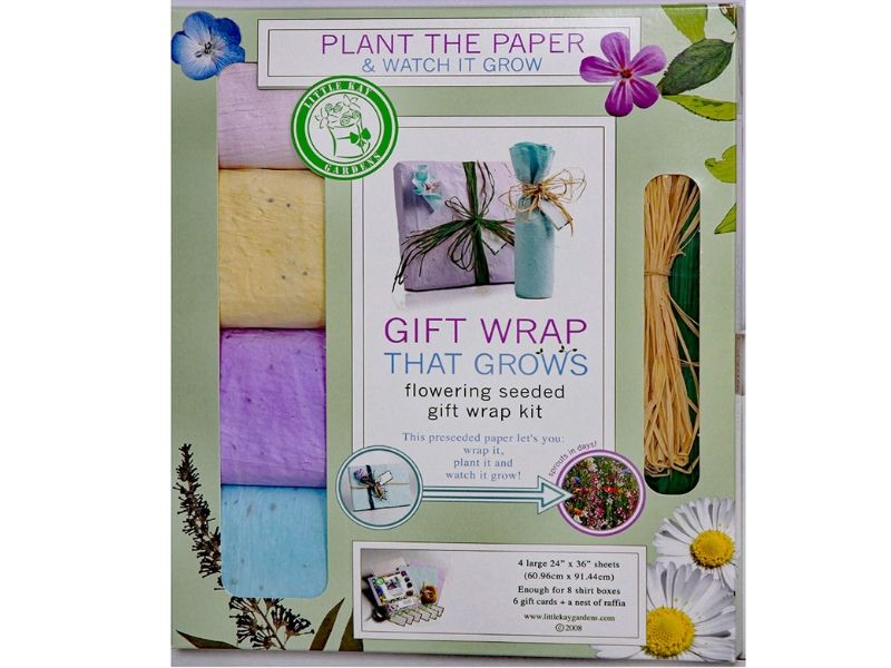 eco friendly wrapping paper seed paper