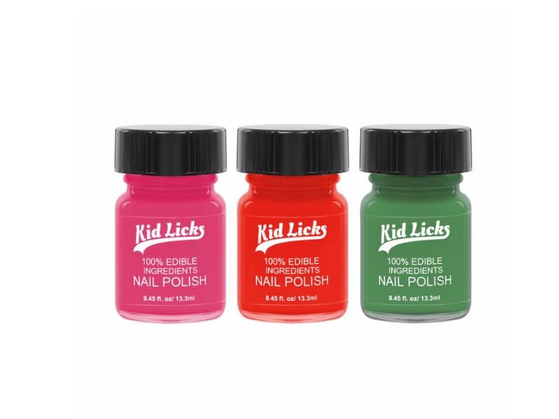 non toxic kids gift ideas kid licks nail polish