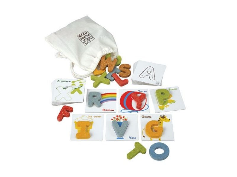 non toxic kids gift ideas plantoys alphabet game