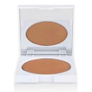 clove and hallow bronzer makeup pan in white refillable compact on bigger better days shop my picks page